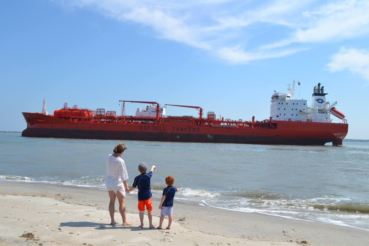 An Odfjell chemical tanker calls Moorehead in the US. Photo by Charles Leeuwenburg