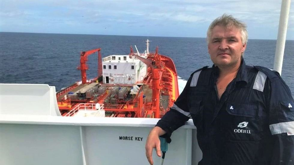Seafarers are urging governments to open for crew change. Chief Officer Bengt Ellingsund on Odfjell's chemical tanker Bow Fortune has not set foot on land since early January.