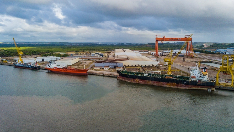 Odfjell's chemical tankers Bow Atlantic and Flumar Brasil at the EAS shipyard in Brasil