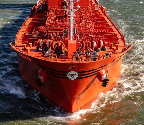 Crew on board Odfjell's chemical tanker Bow Prosper. Photo: Jonathan Atkin, Shipshooter   Odfjell