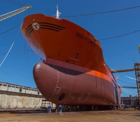 Odfjell's chemical tanker Bow Atlantic at the EAS shipyard in Brazil