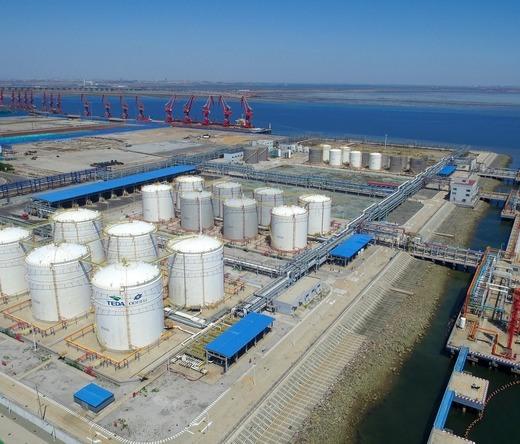 Air view of Odfjell Nangang Tianjin Terminals