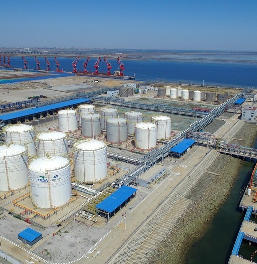 Air view of Odfjell Nangang Tianjin Terminals