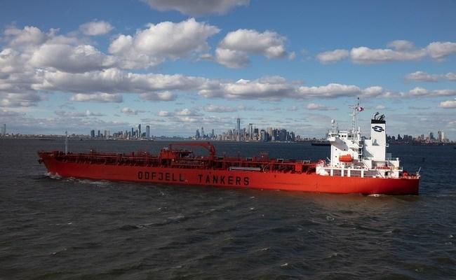 Odfjell's chemical tanker Bow Prosper arrives New York. Photo: Jonathan Atkin, Shipshooter   Odfjell