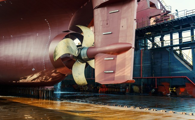 The propeller system at an Odfjell chemical tanker. Photo by Thomas Kohnle.